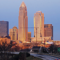 Charlotte Skyline At Sunrise by Jeremy Woodhouse