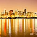 Chicago Skyline At Night Photo by Paul Velgos