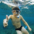 Child Snorkelling by Alexis Rosenfeld
