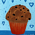 Chocolate Chip Cupcake by Barbara Griffin
