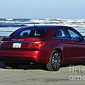 Chrysler At Beach by Jack Moskovita