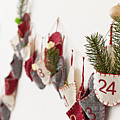 Close Up Of Advent Calendar On Wall by Nils Hendrik Mueller