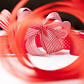 Close Up Of Decorative Red Ribbons by Nils Hendrik Mueller