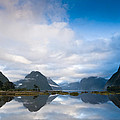 Cloudy Morning At Milford Sound At Sunrise by U Schade