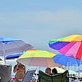 Coast Guard Beach Umbrellas by Allen Beatty