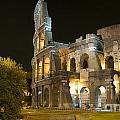 Coliseum  Illuminated At Night. Rome by Bernard Jaubert