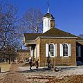 Colonial Williamsburg Courthouse by Sally Weigand