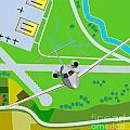 Commercial Jet Plane by Aloysius Patrimonio