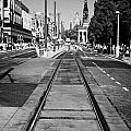 Completed Tram Rails On Princes Street Edinburgh Scotland Uk United Kingdom by Joe Fox