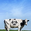Cow And Biohazard Sign, Artwork by Victor Habbick Visions
