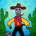 Cowboy Dia De Los Muertos by Pristine Cartera Turkus