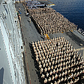 Crew Aboard The Amphibious Assault Ship by Stocktrek Images