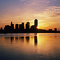 Dallas Skyline At Dawn by Jeremy Woodhouse