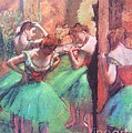 Dancers - Pink And Green by Pg Reproductions
