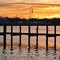 Dock Sunset by Clara Sue Beym