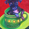 Dog In Cup by Gail Mcfarland