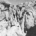 Eroded Sandstone Cliffs by Frank Wilson