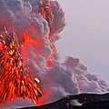 Explosion Of Lava, Ash, And Steam by Steve And Donna O'Meara