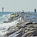 Fishing The Jetty - Island Beach State Park   Nj by Mother Nature