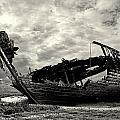 Fleetwood Marsh Wrecks by Trevor Kersley