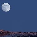 Full Moon At Alpenglow by Yuichi Takasaka
