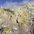 Fumaroles With Sulphur Deposits. Flank by Richard Roscoe