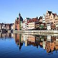 Gdansk Old Town And Motlawa River by Artur Bogacki