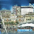 Genova Expo Area With Saint George Building by Enrico Pelos