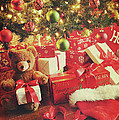 Gifts Under The Tree For Christmas by Sandra Cunningham