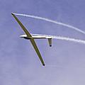 Glider Flying Aerobatics At Airshow Canvas Photo Poster Print by Keith Webber Jr