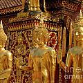Golden Buddhas by Bob Christopher