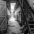 Grim Cell Block In Philadelphia Eastern State Penitentiary by Gary Whitton