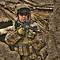 Hdr Image Of A German Army Soldier by Terry Moore