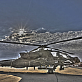 High Dynamic Range Photo Of An  Ah-64d by Terry Moore