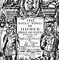 Homer Title Page, 1616 by Granger