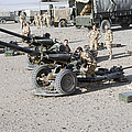 Howitzer 105mm Light Guns Are Lined by Andrew Chittock