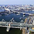 Hungerford Bridge Seen From London Eye by Elena Elisseeva