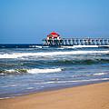 Huntington Beach Pier In Orange County California by Paul Velgos