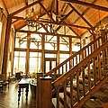 Interior Of Large Wooden Lodge by Will and Deni McIntyre