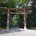 Japanese Entrance Gate On A Sunny Day by U Schade