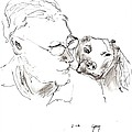 Jeff And Dog by Gary Kirkpatrick