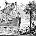Landing Of Leif Ericsson by Granger
