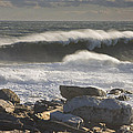 Large Waves Near Pemaquid Point On The Coast Of Maine by Keith Webber Jr