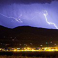 Lightning Striking Over Ibm Boulder Co 2 by James BO Insogna