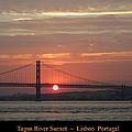 Lisbon Tagus River Sunset Portugal by John Shiron