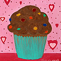 M And M Cupcake by Barbara Griffin