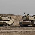 M1 Abrams Tank At Camp Warhorse by Terry Moore
