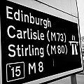 M8 Motorway Sign In Glasgow Scotland Uk by Joe Fox