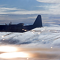Mc-130p Combat Shadow Dropping Flares by Gert Kromhout
