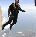 Member Of The U.s. Army Golden Knights by Stocktrek Images